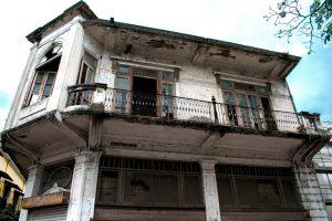 Maison vétuste dans le centre historique de Panama City