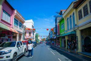 Rue de Phuket Town en Thaïlande
