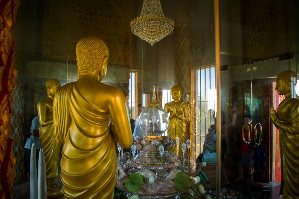 Relique de Bouddha dans un temple en Thaïlande