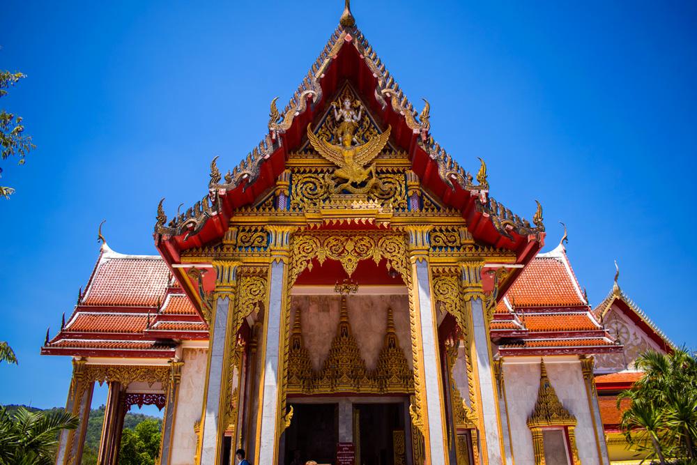 Entrée d'un temple Bouddhiste à Phuket