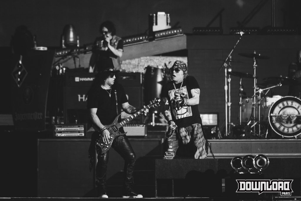 Photo Noir et Blanc du groupe Gun's and Roses