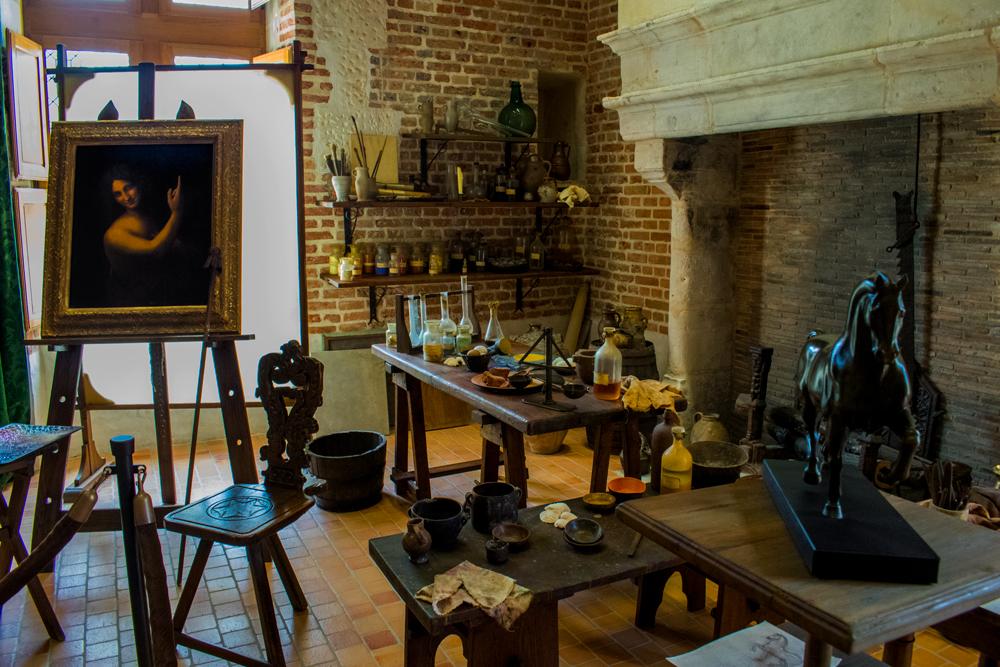 Équipements de Léonard de Vinci au Clos Lucé