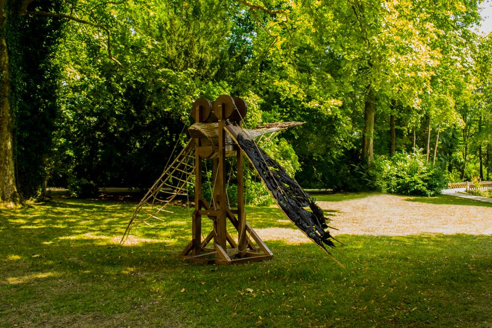 Maquette de l'Homme vilant présenté au Clos Lucé et imaginé par Léonard de Vinci
