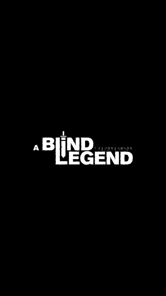 Ecran de lancement du jeu A Blind Legend sur mobile