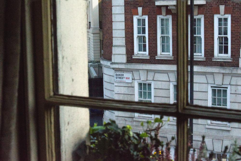Vue depuis les appartements de Sherlock Holmes au 221B Baker Street
