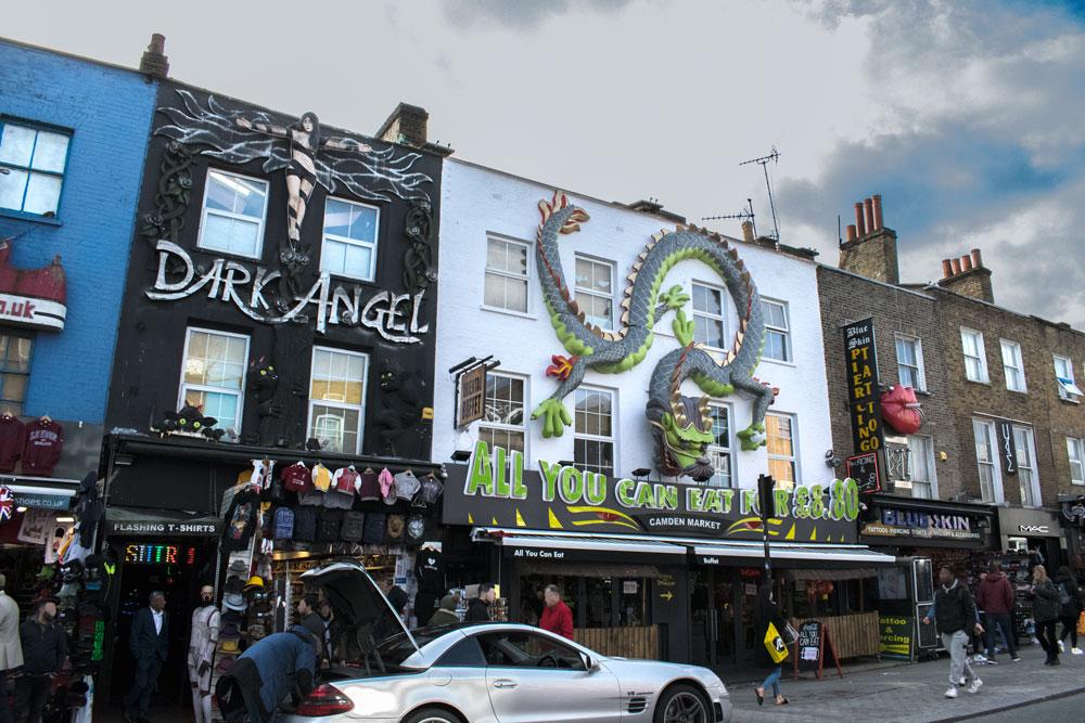 Devantures de magasin à Camden Town