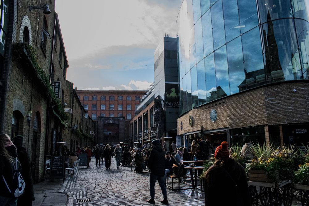 Rue de Camden Town à Londres