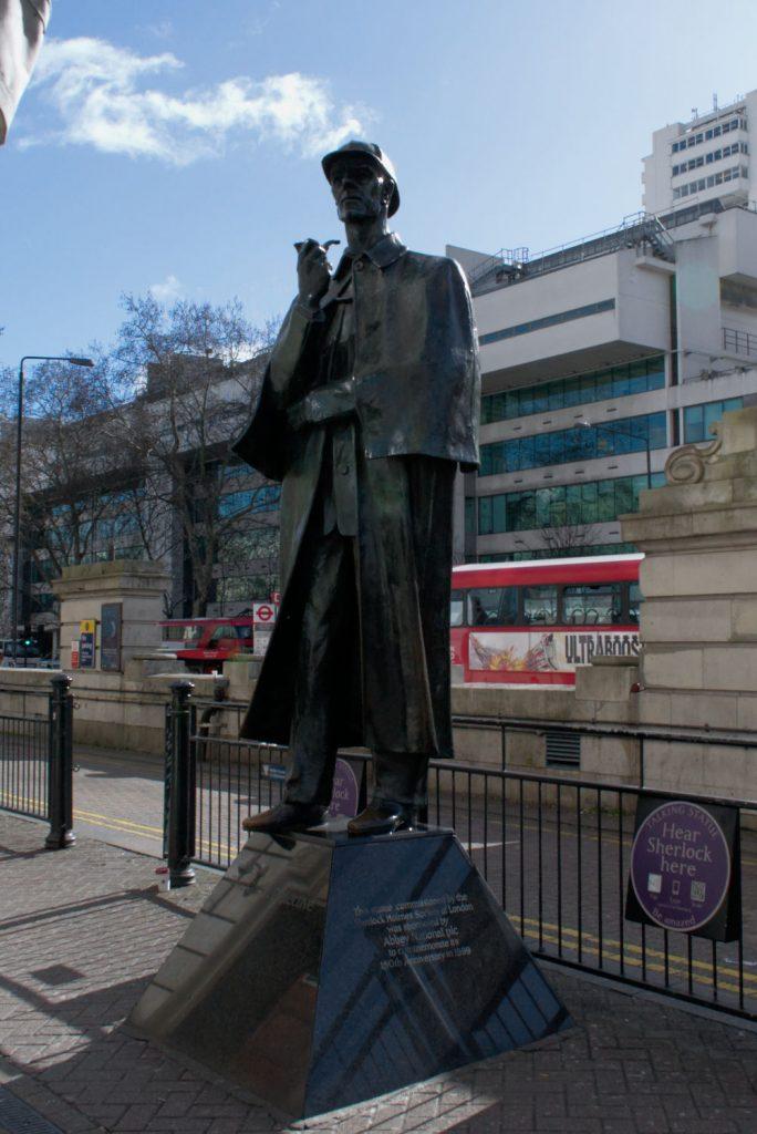 Statue de Sherlock Holmes non loin de Backer Street