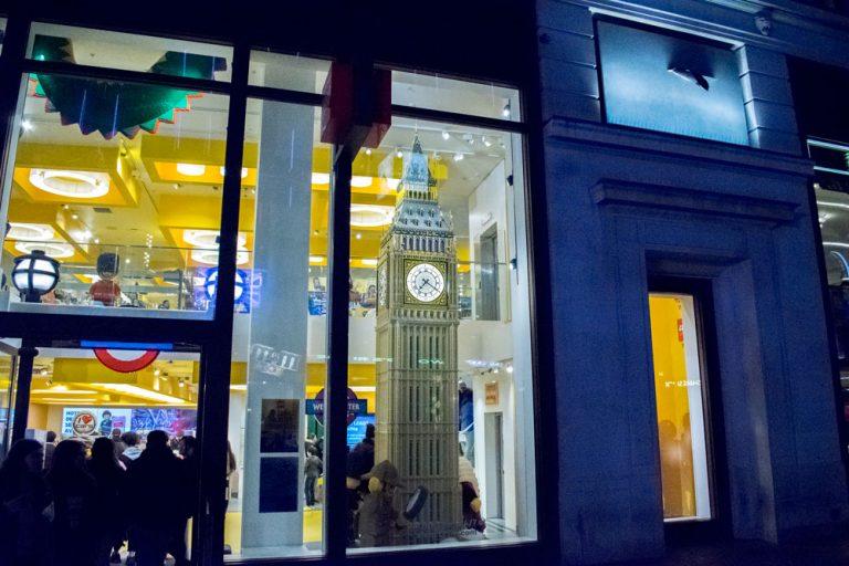 La boutique Lego de Londres avec un Big Ben tout en Lego