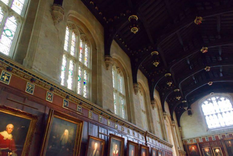 Toit de la grande salle de Christ Church à Oxford