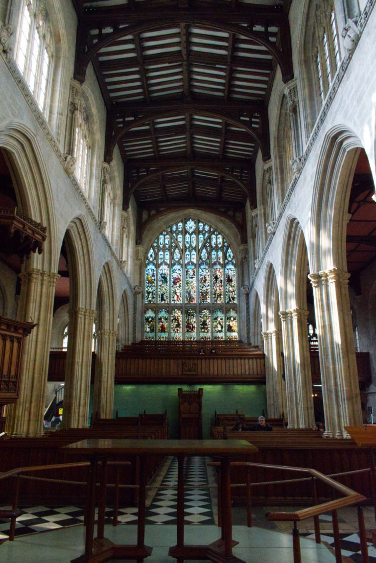 Intérieur de l'église d'Oxford University