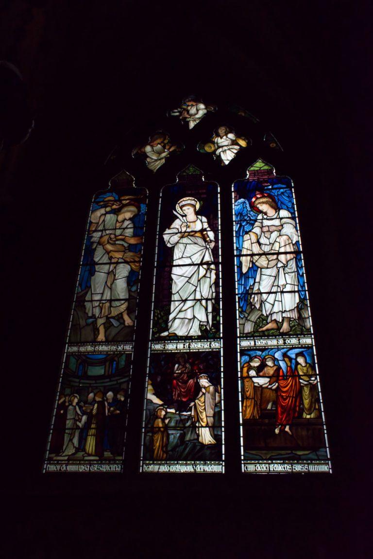 Vitraux dans l'Église d'Oxford College
