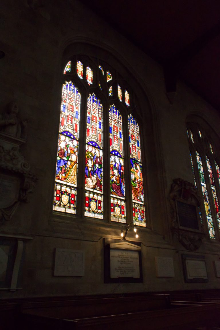 Vitraux de l'église d'Oxford