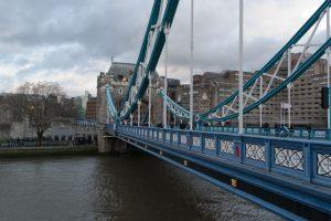 Vue de côté du tapis de Tower Bridge