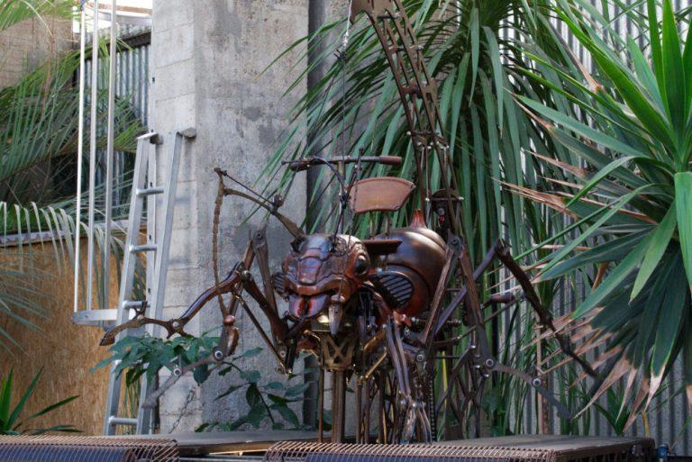 Maquette d'une fourmi mécanique des machines de l'île