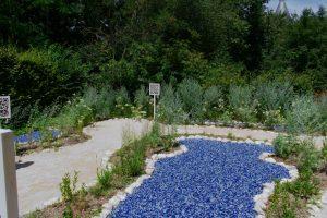 Jardin intéractif avec des QR Code dans les Jardins de Chaumont