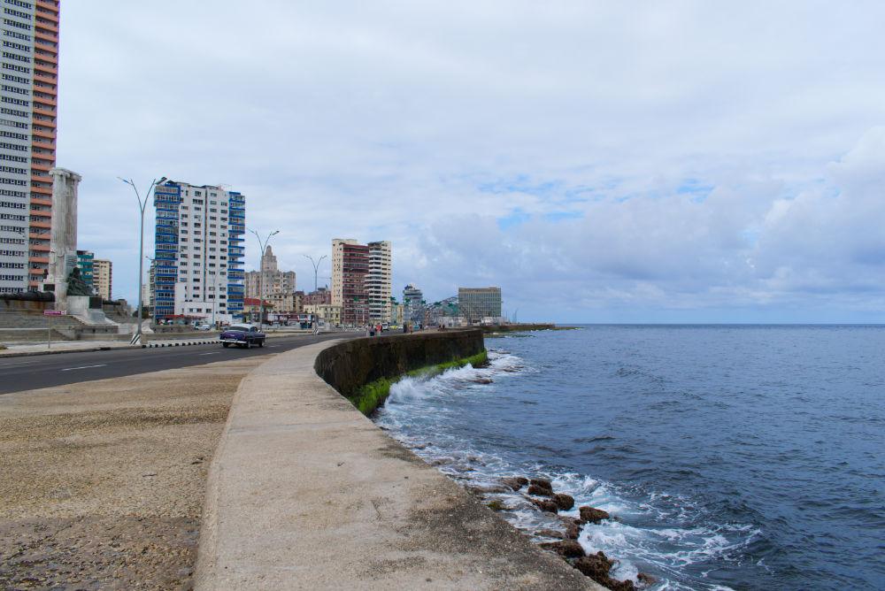 Jetée en arrivant à La Havane depuis Varadero à Cuba