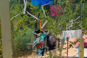 Mélange de peinture et de plantes dans les Jardins de Chaumont