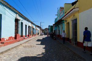Rue principale de Trinidad à Cuba