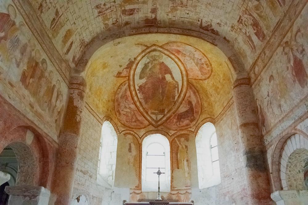 Plafond de l'église Saint Genest à Lavardin dans le Loir et Cher