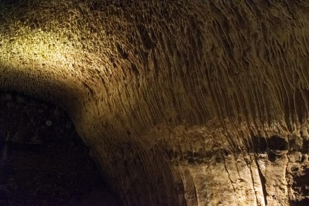 La grotte pétrifiante à Trôo, une grotte recouverte de stalactites grâce au travail de l'eau sur la roche